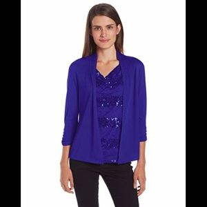 3 for $20 🌸 Royal Blue Sequin Blouse Sag Harbor